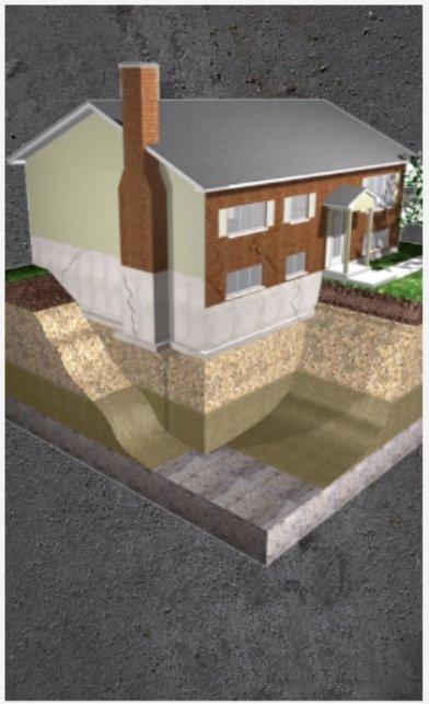 house plan - Hydraulic piling - Alerte fissure